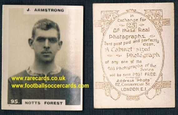 1919 pinnace brown oval back Nottingham Forest Armstrong 95